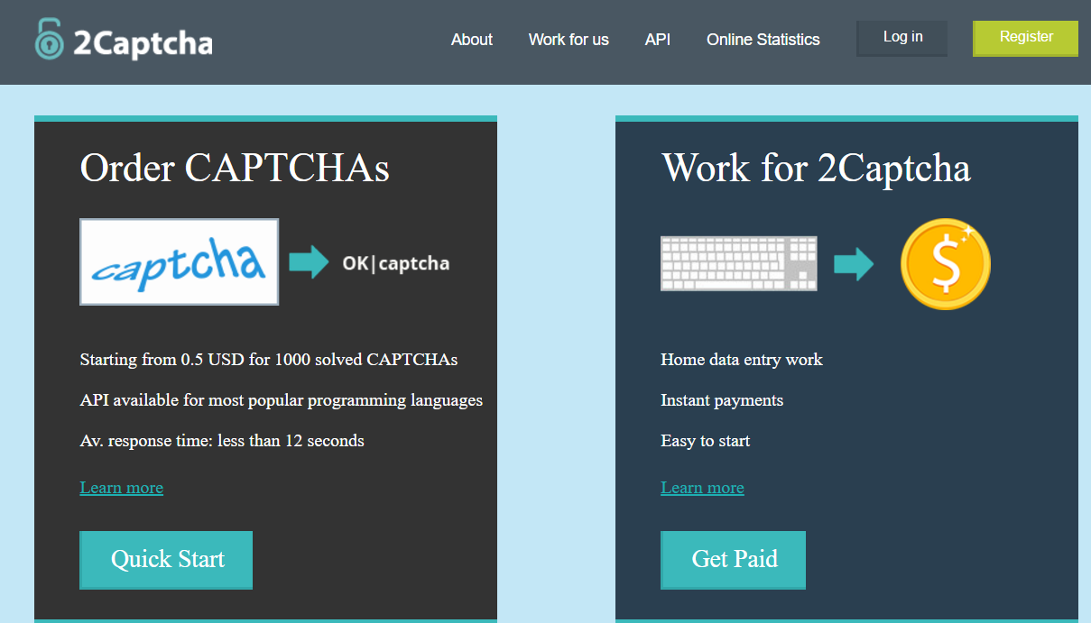 earn money typing captcha