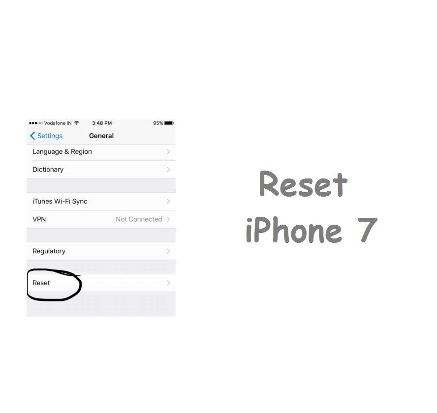reset iphone7