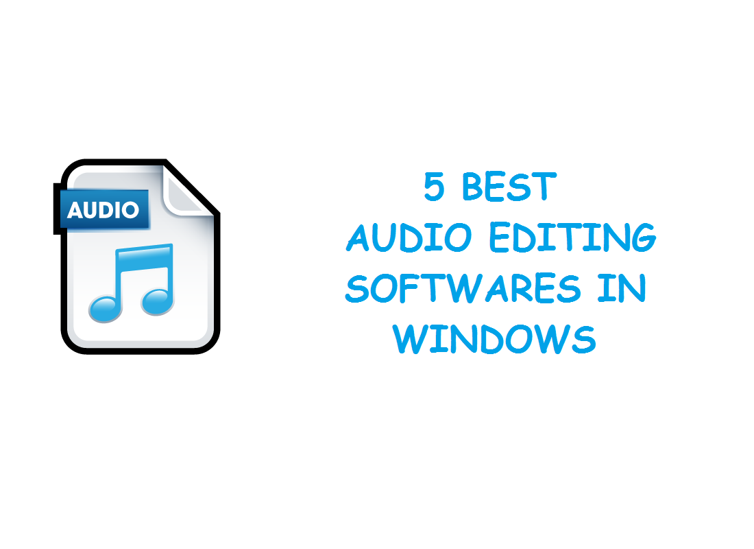 audio editing softwares
