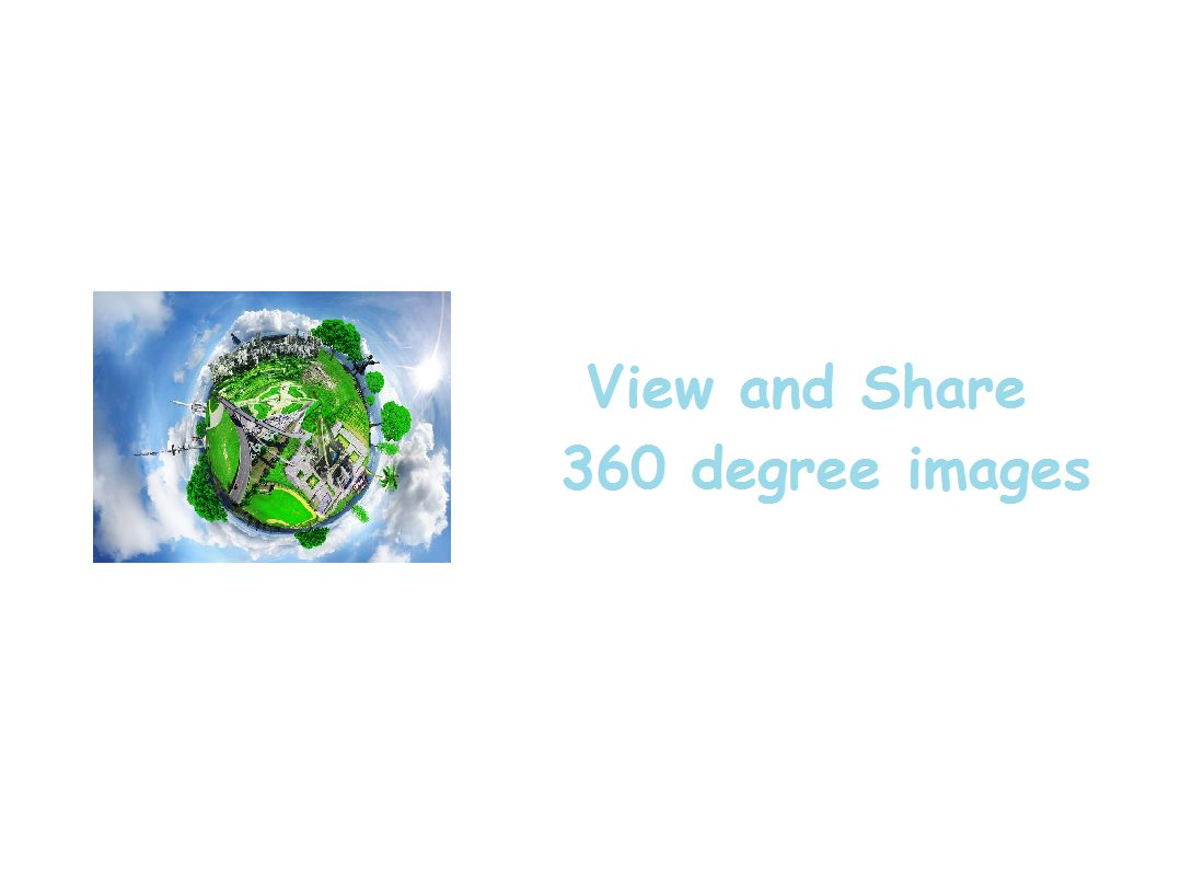 share 360 degree images