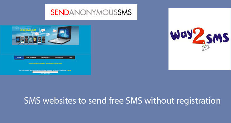 SMS websites to send free SMS without registration